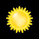 Symbolgrafik: sonnig