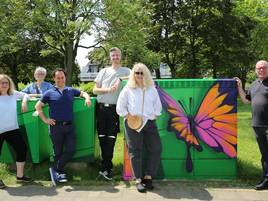 Kunst-Aktion in Grevenbroich: Grafitti-Künstler sorgt für mehr Farbe an der Deutsch-Ritter-Allee