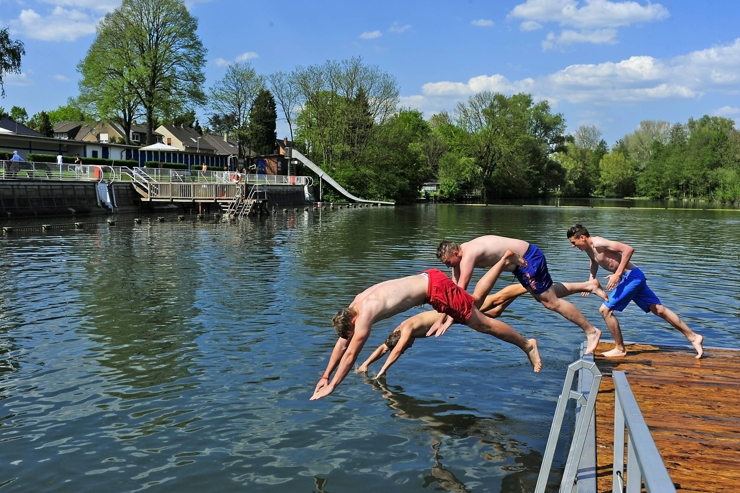 unterbacher see schwimmen