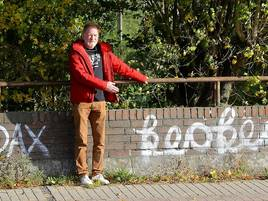 Bürger ärgert sich über Schmierereien: Rheinberg soll mehr gegen Vandalismus tun