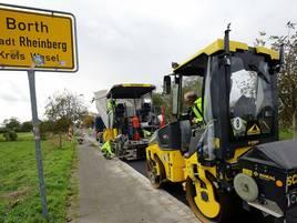 Straßenbauarbeiten in Rheinberg: Wallacher Straße ist neu asphaltiert