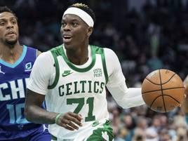 Sieg in der NBA: Starker Dennis Schröder jubelt mit den Boston Celtics