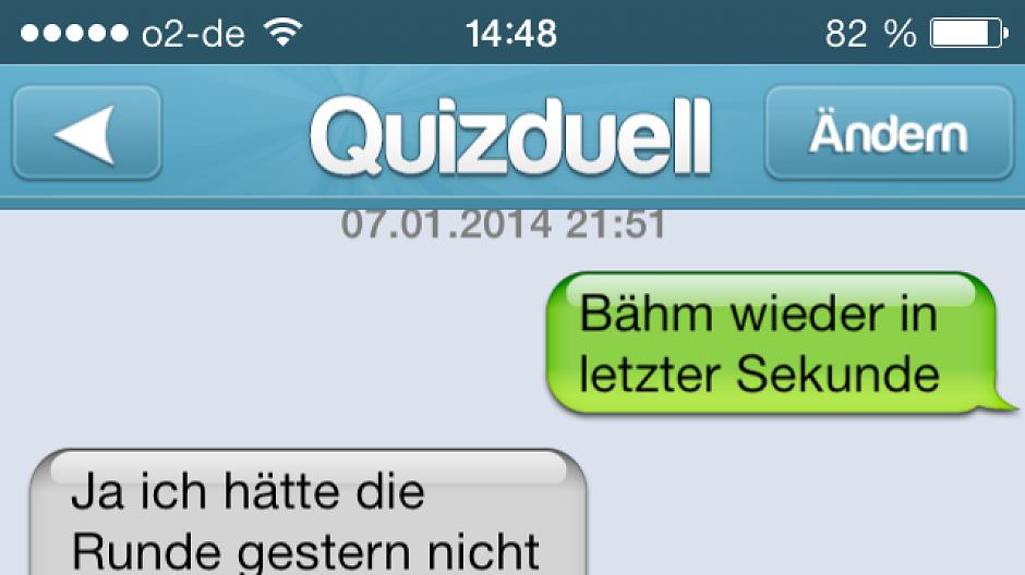 Quizduell chat nachrichten löschen