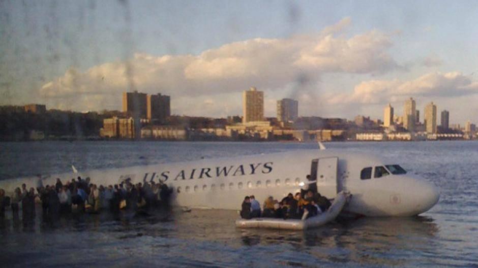 Film Flugzeug Hudson River