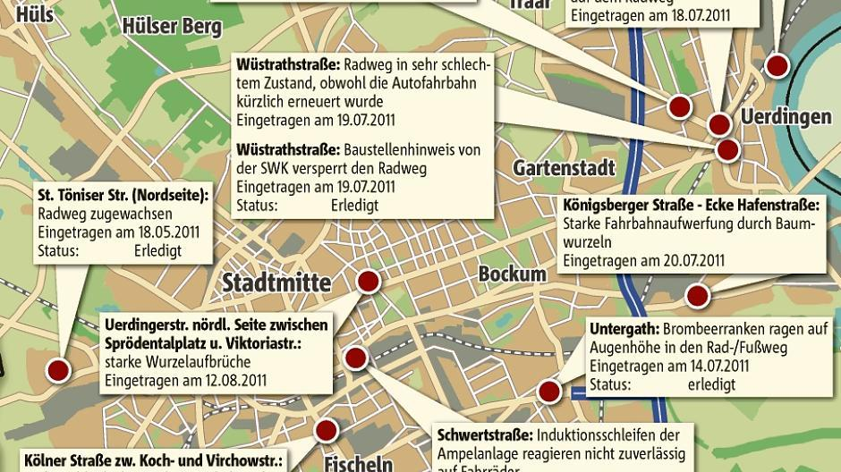 Krefeld Karte.Krefeld Neue Karte Mit Radwegeschäden