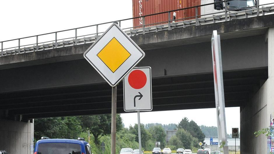 Verkehrsschild Roter Punkt