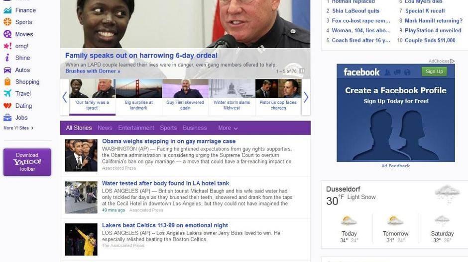 Yahoo persönliche Dating-Website