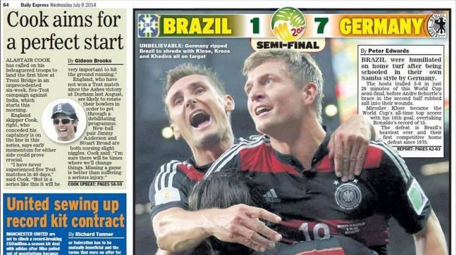 Deutschland Fertigt Brasilien 7 1 Ab So Sehen Die