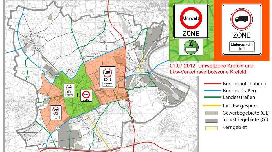 Umweltzone München Karte.Krefeld Rechtslage Erschwert Kontrollen In Der Krefelder Umweltzone