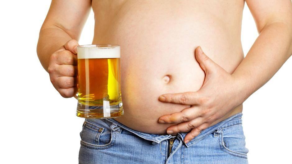 Diät, um den Bierbauch zu senken