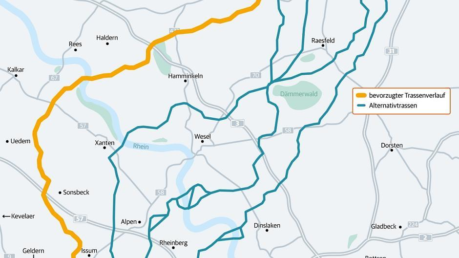 Karte Von Nrw.Amprion Stromtrasse Karte Zeigt Geplanten Verlauf Durch Nrw