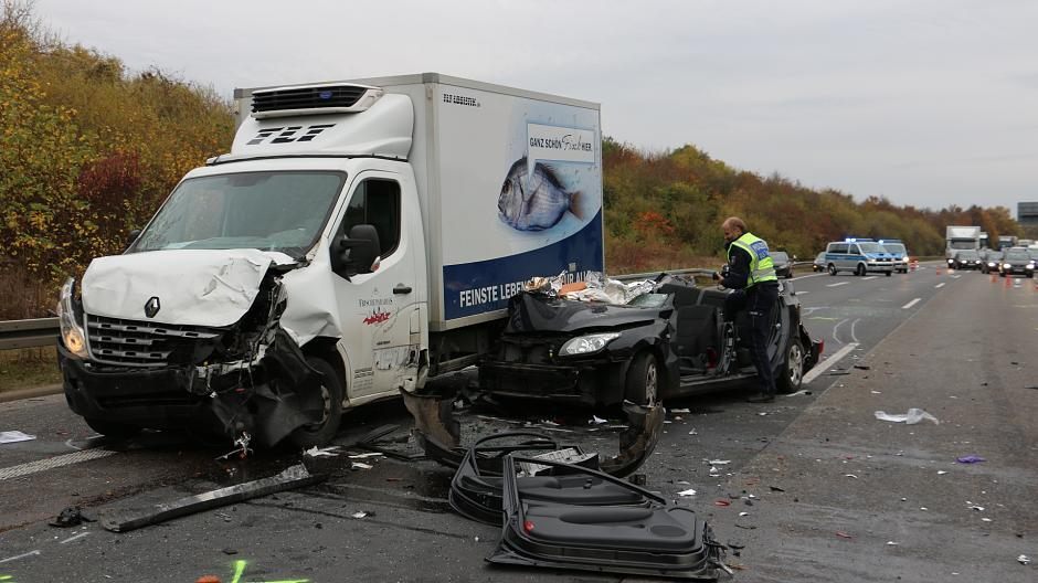 Unfall A555 Gestern