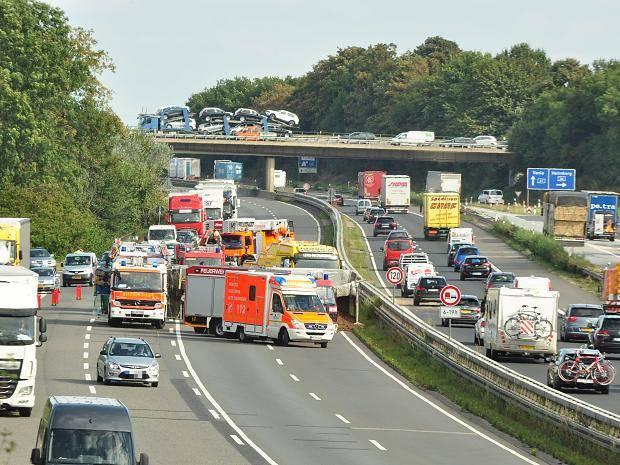 Stau A61 Mönchengladbach
