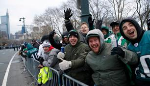 Die Siegerparade der Philadelphia Eagles