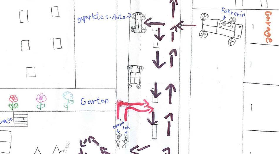Unfallskizze: Kleine Detektive überführen Verkehrssünderin