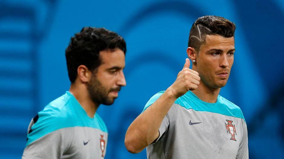 Cristiano Ronaldo Mit Blitz In Der Frisur