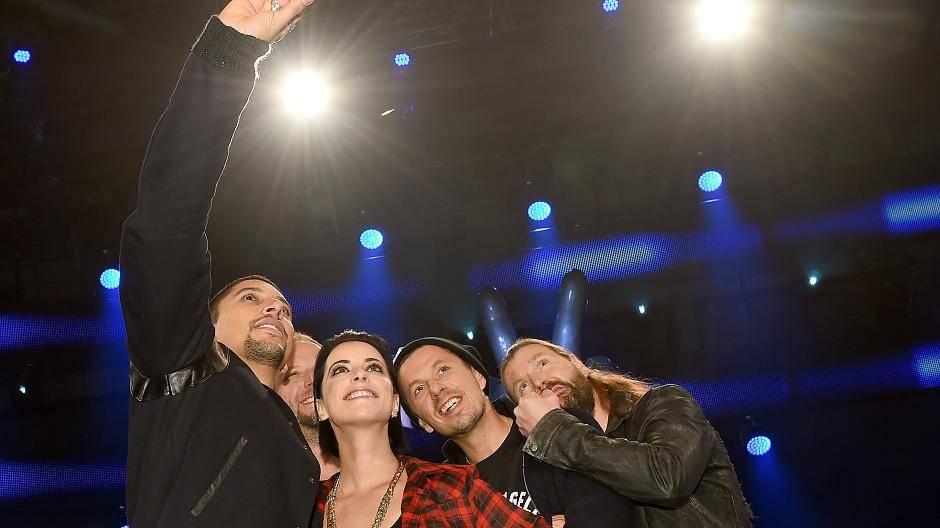The Voice Of Germany 2015 Jury Mit Lena Gercke Andreas
