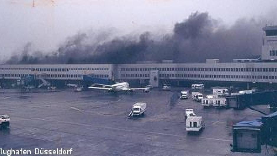 Flughafen Düsseldorf Brand