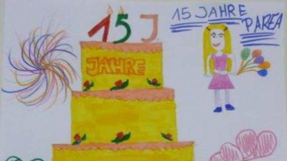 Parea-Geburtstag: Kinder malen