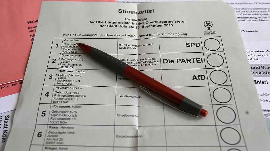 Köln Bürgermeisterwahl
