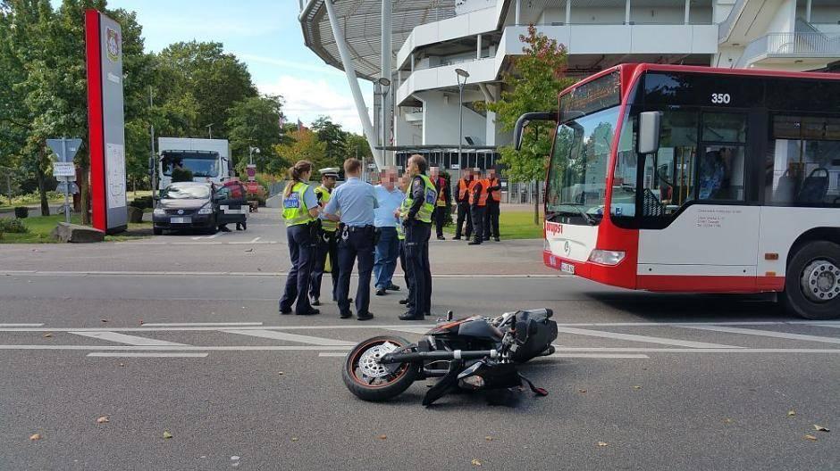 Motorradunfall Leverkusen