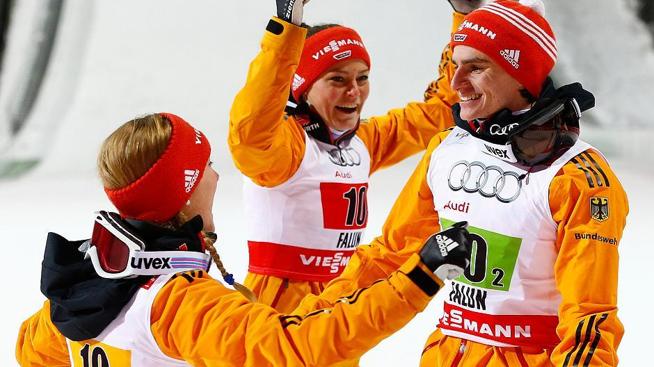 Skispringen Mixed Team