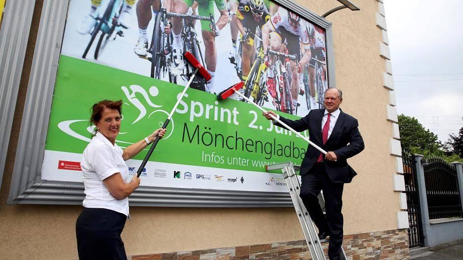 Mönchengladbach Werbekampagne Zur Tour De France Ist Gestartet