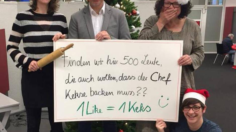 Aktion: Bücherei-Chef muss Kekse backen