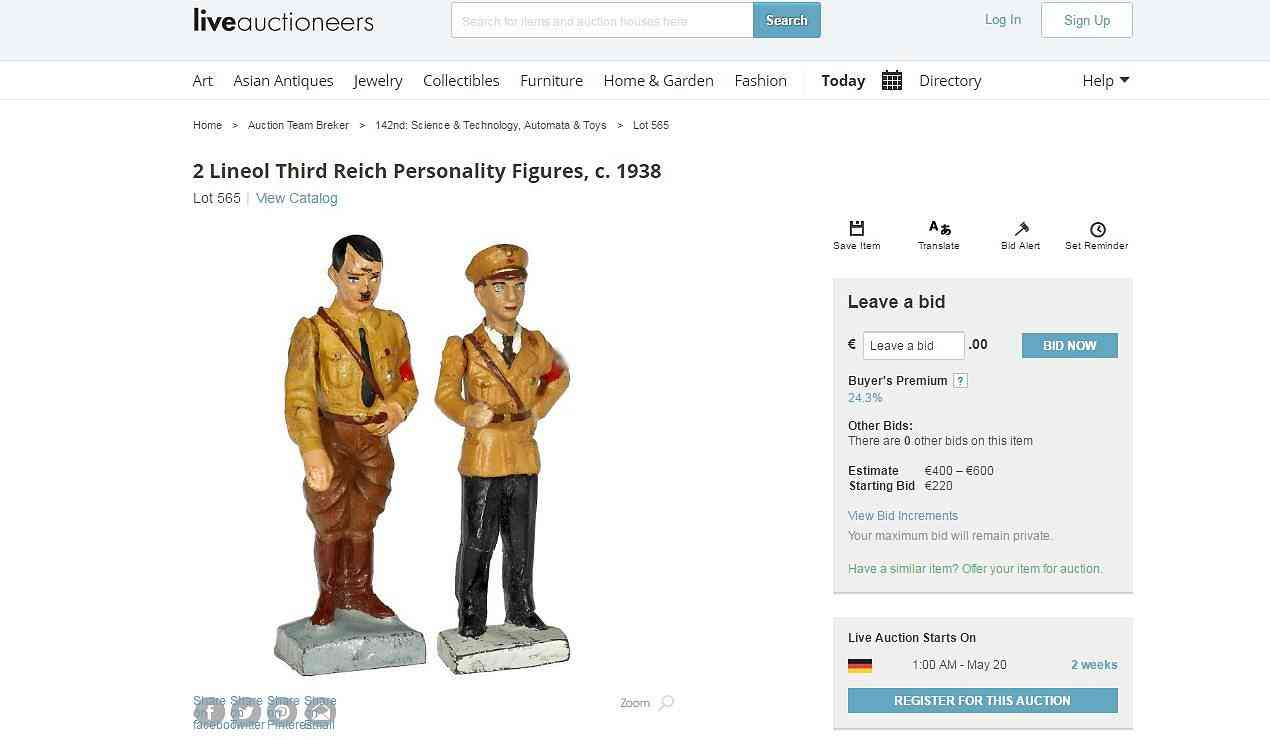 Nazi Spielzeug Staatsanwaltschaft Ermittelt Gegen Kölner Auktionshaus