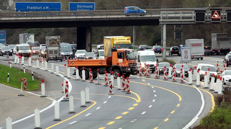 Baustelle A3 Köln