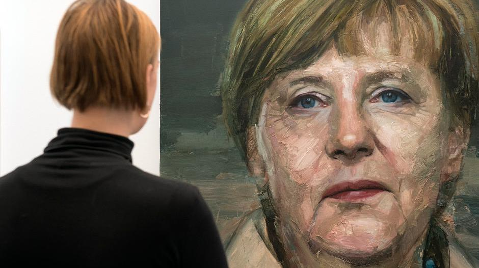 "Angela Merkel ziert die ""London Art Fair 2016"""