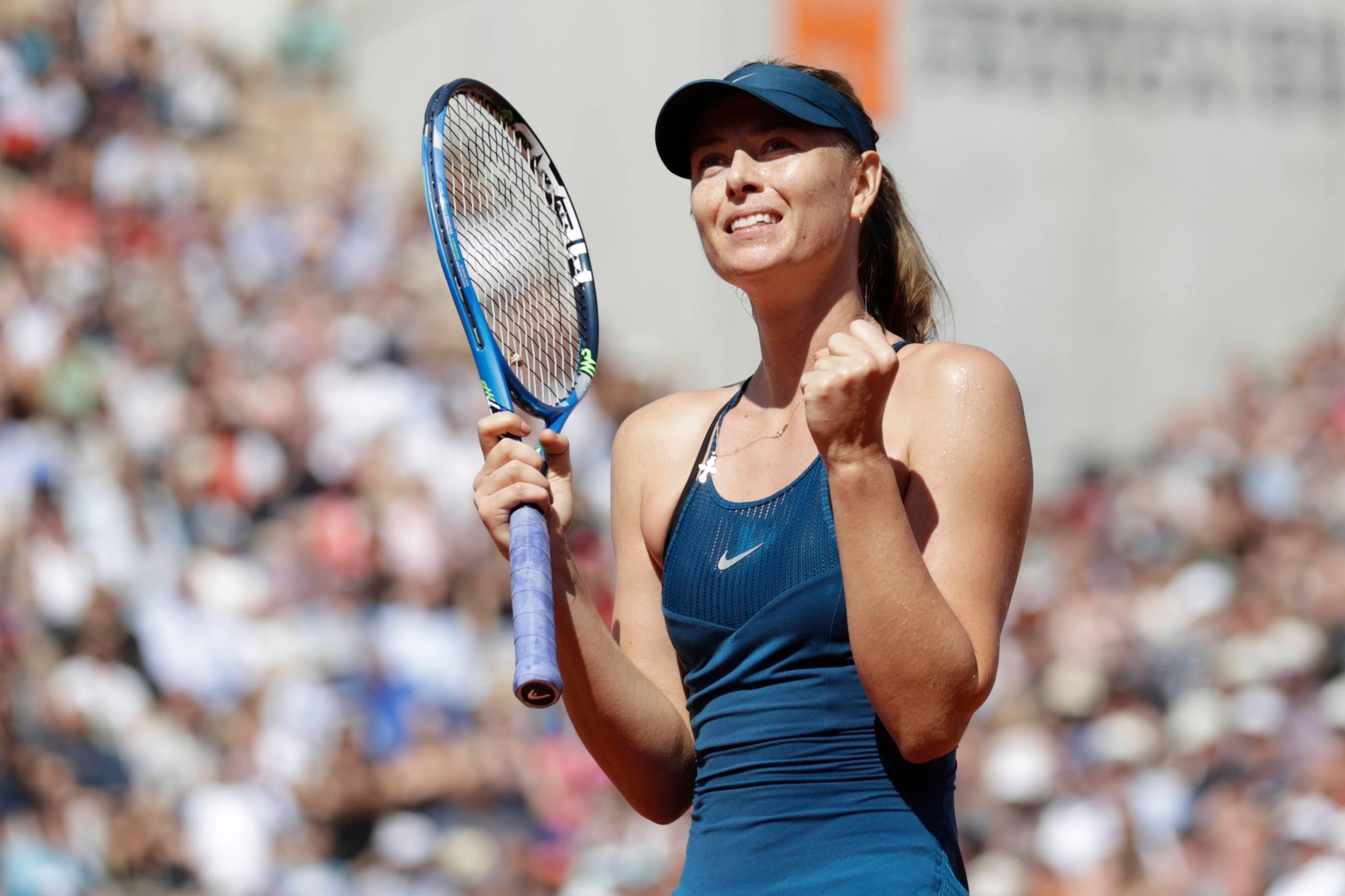 French Open 2018: Maria Scharapowa zittert sich in die