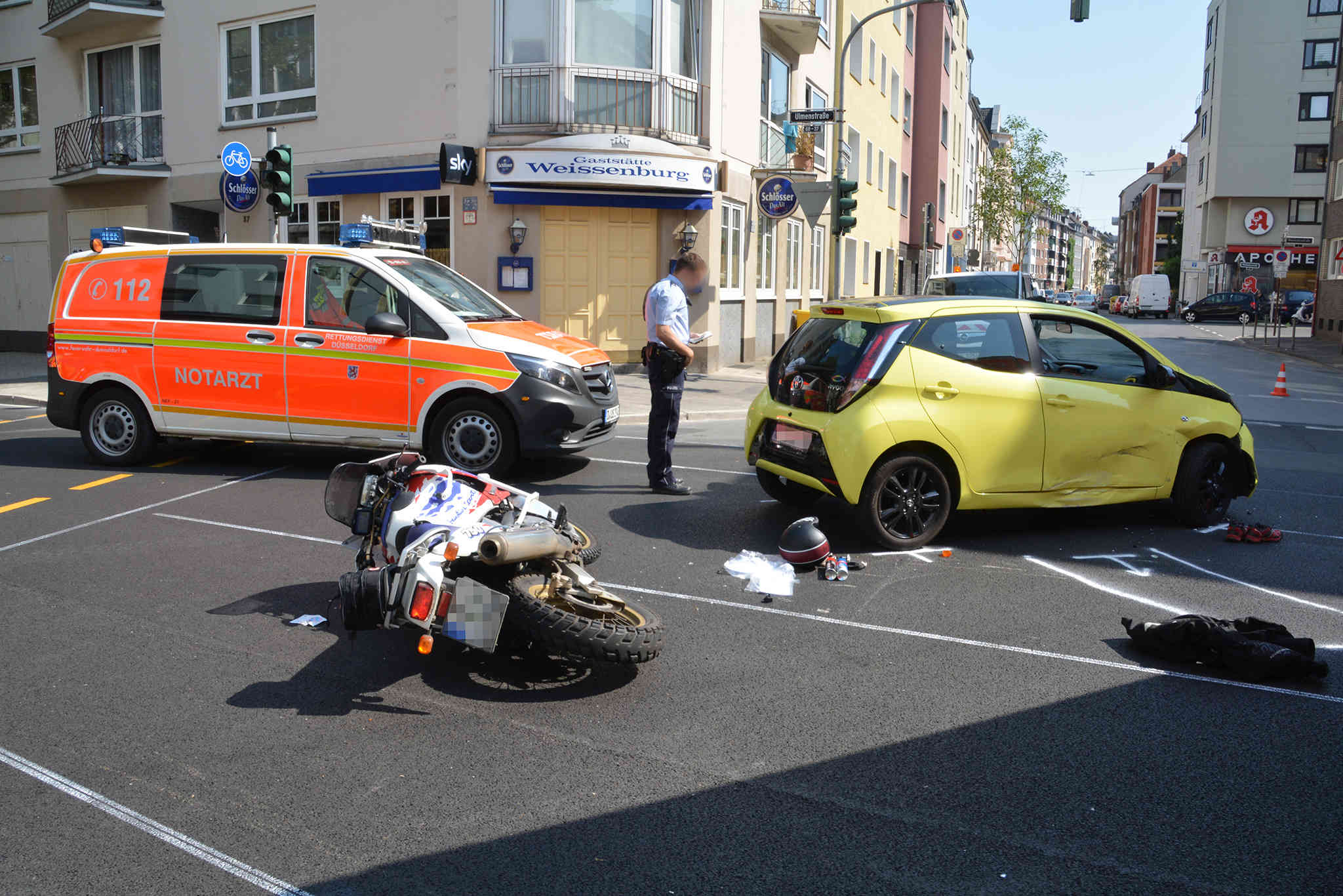 Motorradunfall Düsseldorf
