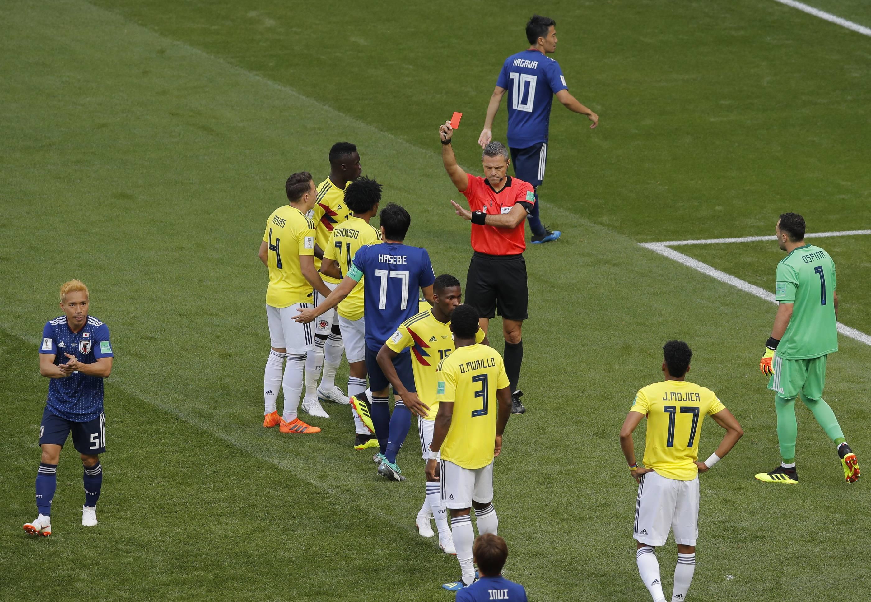 Rote Karte Wm 2018.Wm 2018 Kolumbien Gegen Japan Die Bilder Des Spiels