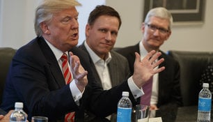 Donald Trump mit dem Tech-Investor Peter