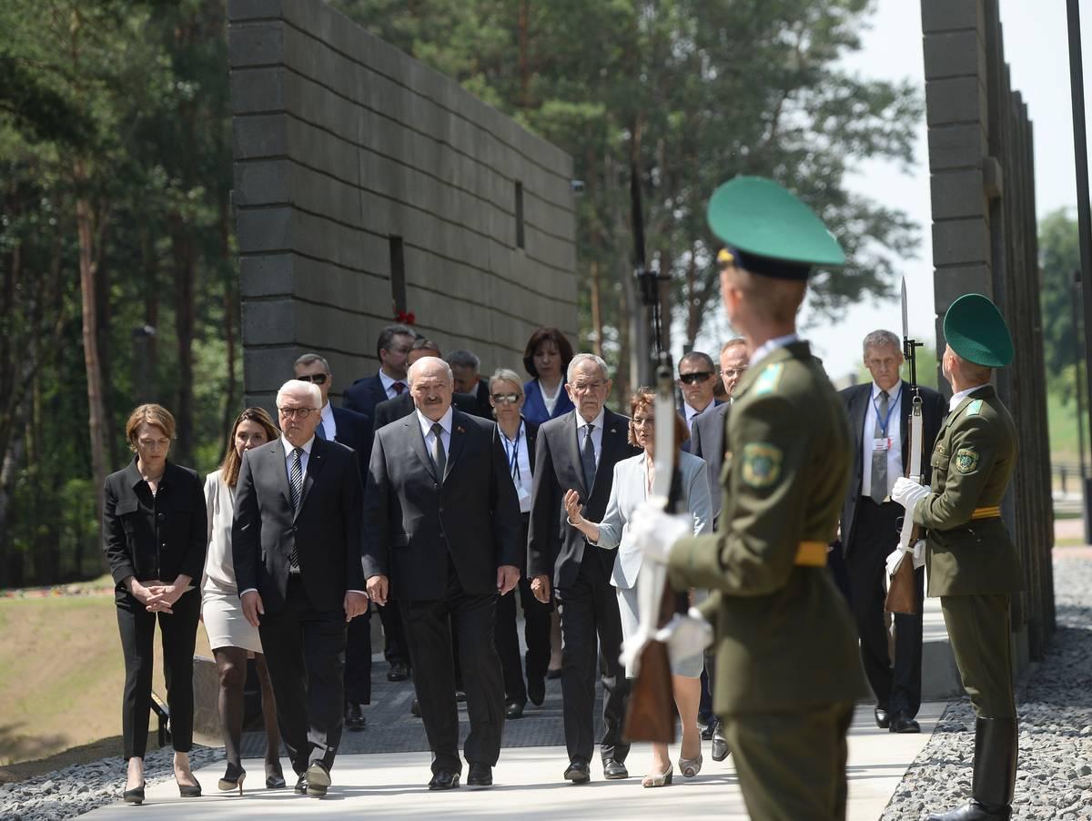 Steinmeier erinnert an Opfer des deutschen Vernichtungsfeldzugs in Weißrussland