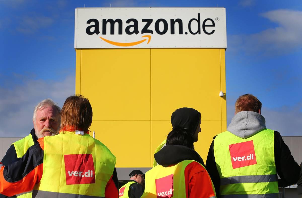 Streik bei Amazon in Bad Hersfeld am