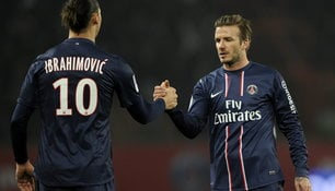 David Beckham und Zlatan Ibrahimovic in