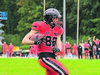 Fix unterwegs: Panther-Receiver Jannis Baumans.