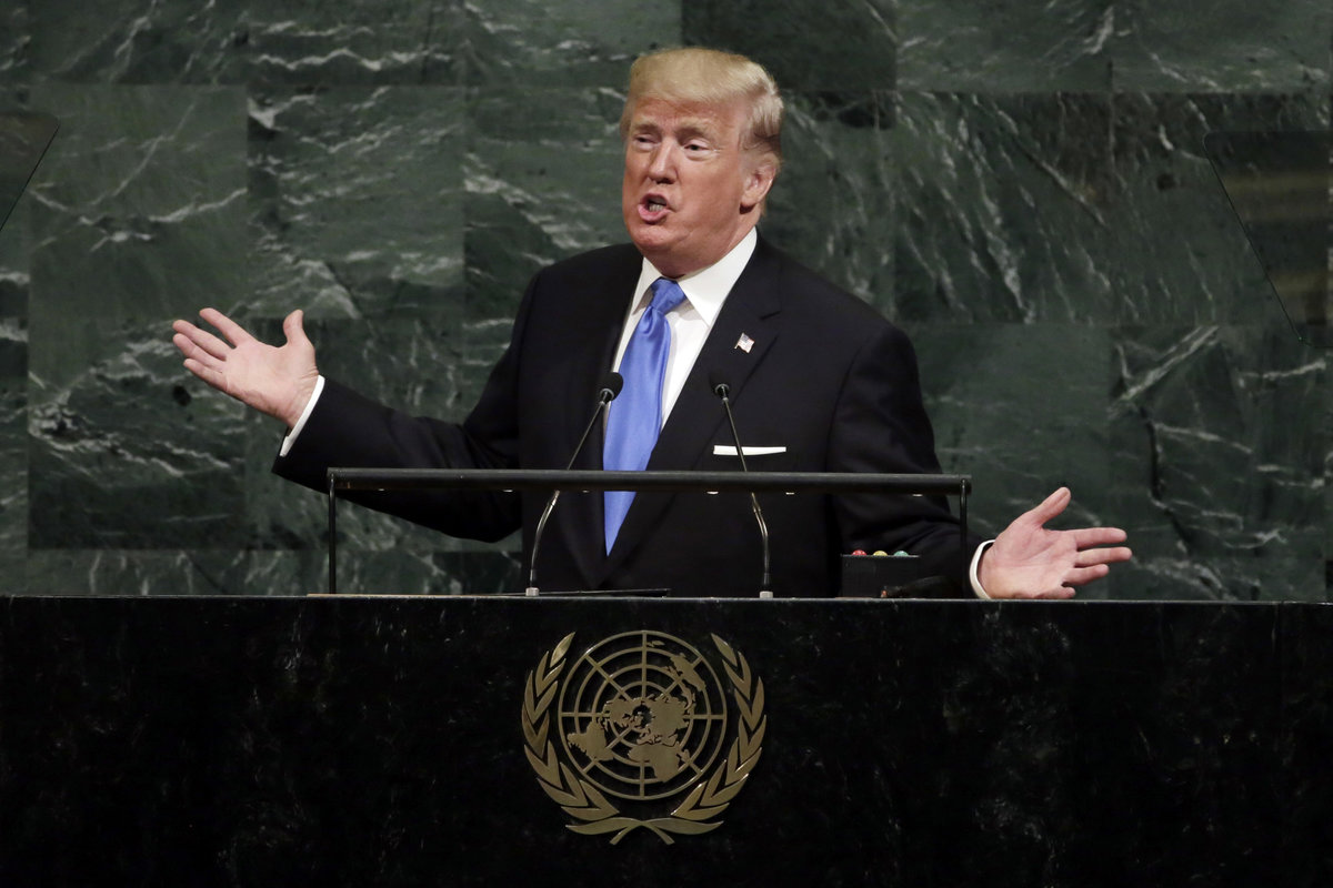 Donald Trump wird für seine UN-Rede ausgelacht