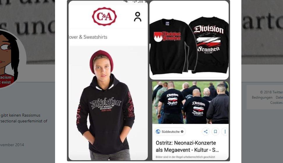C&A продает пуловеры в неонацистском стиле