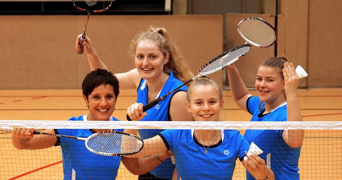 Schnell, dynamisch, Badminton