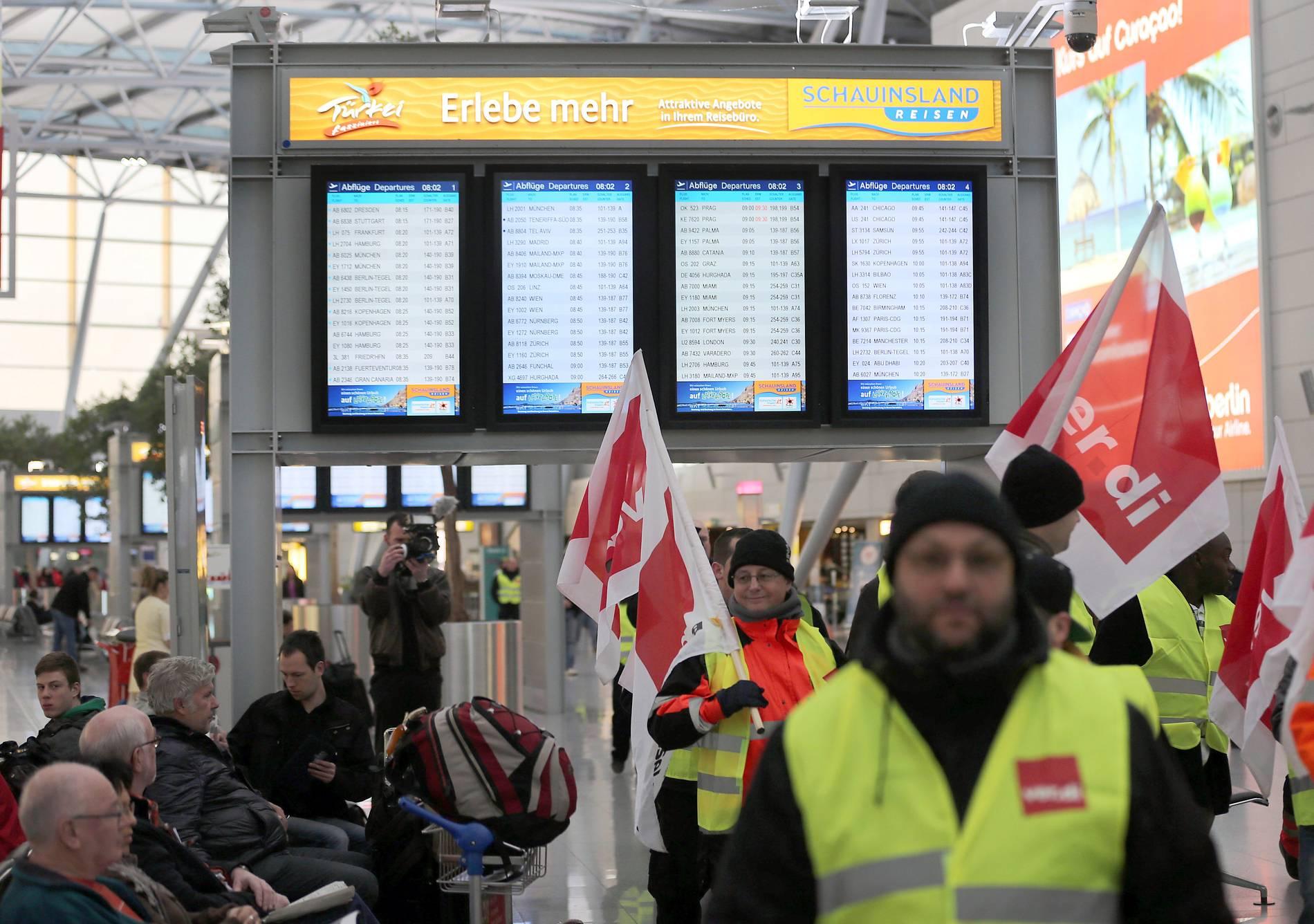 Flughäfen Düsseldorf, Köln-Bonn, Stuttgart: Verdi plant ganztägige Streiks