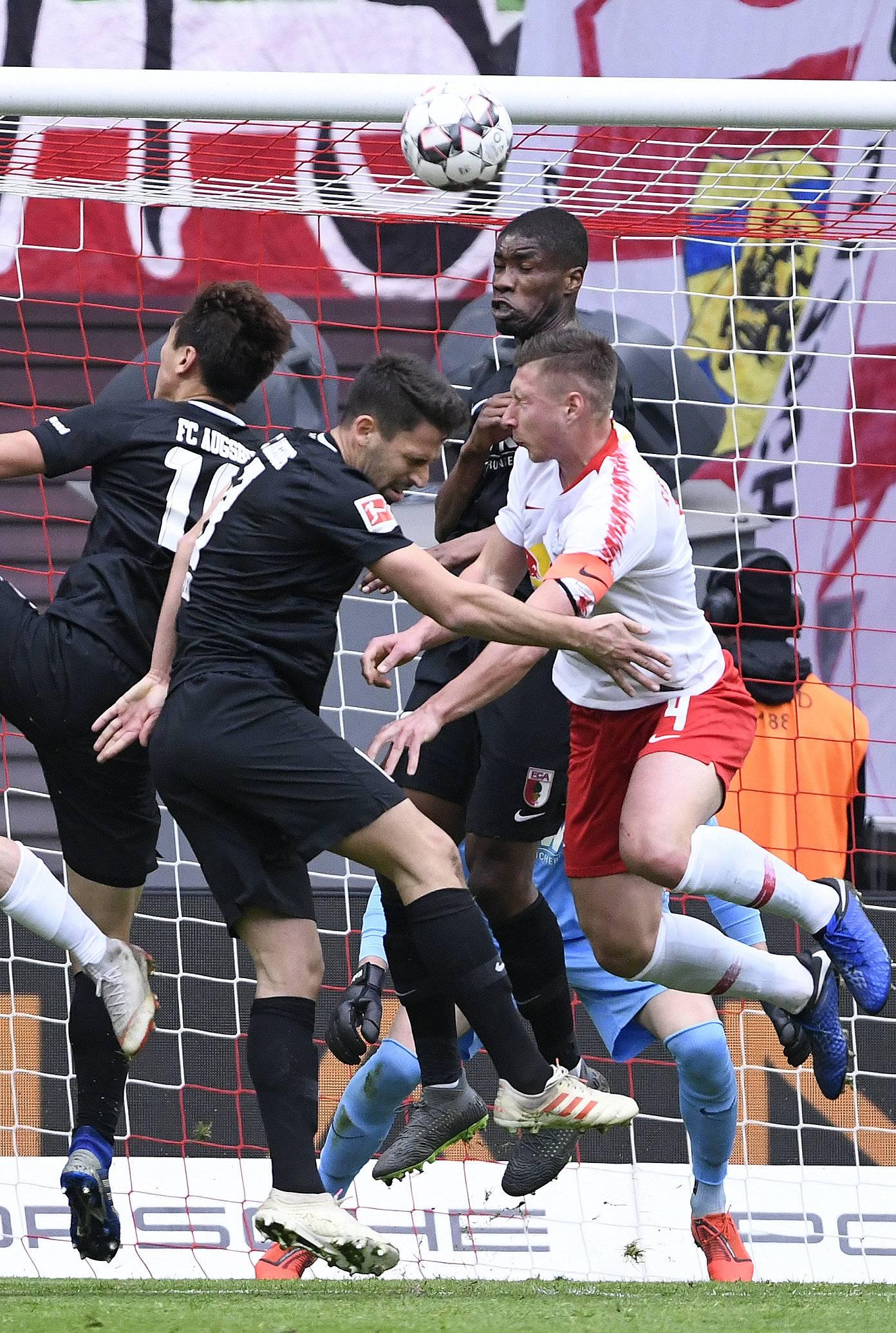 Bundesliga 1819 Rb Leipzig Gegen Fc Augsburg Die Bilder Des Spiels