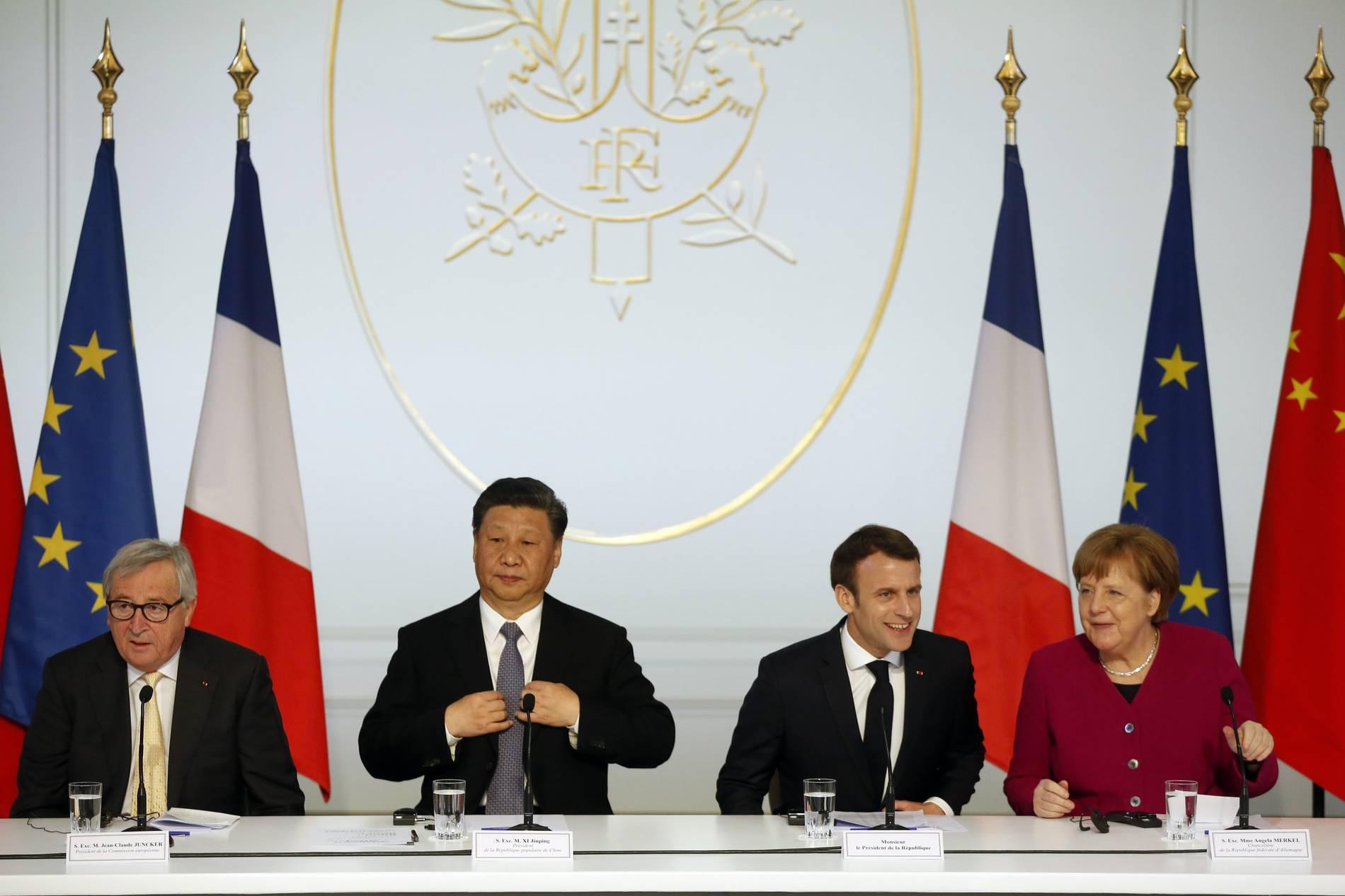 Merkel und Macron: Trotz Bedenken mit China zusammenarbeiten
