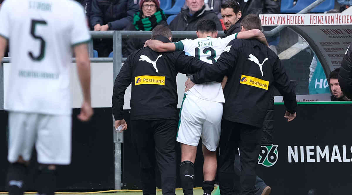 Borussias Stindl nach Schienbeinbruch bereits operiert