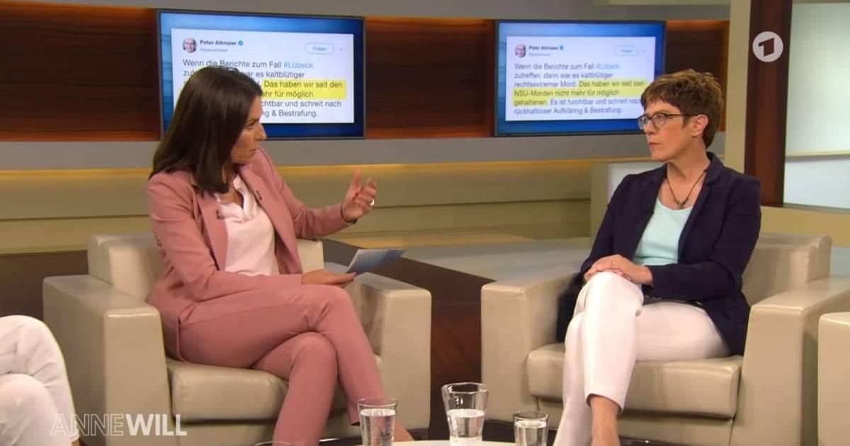 Anne Will: CDU-Chefin Annegret Kramp-Karrenbauer schließt Zusammenarbeit mit AfD aus