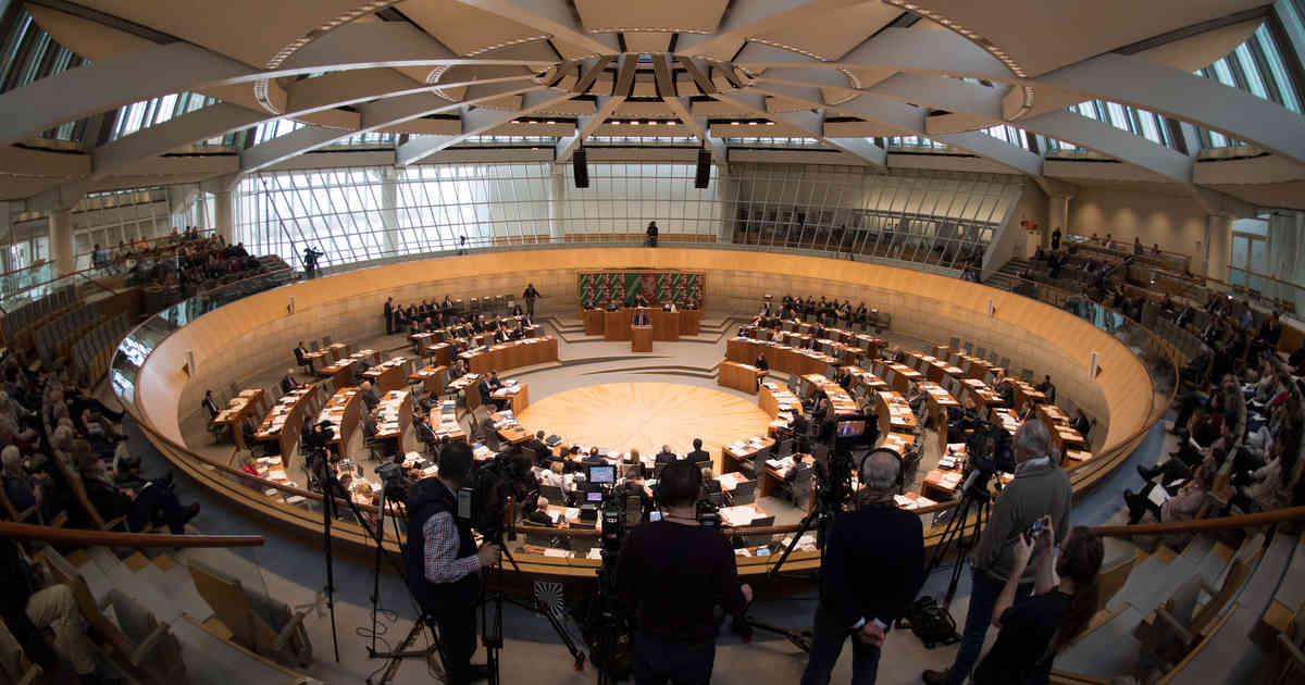 Düsseldorf: Bergleute randalieren im Landtag - Hausverbot erteilt