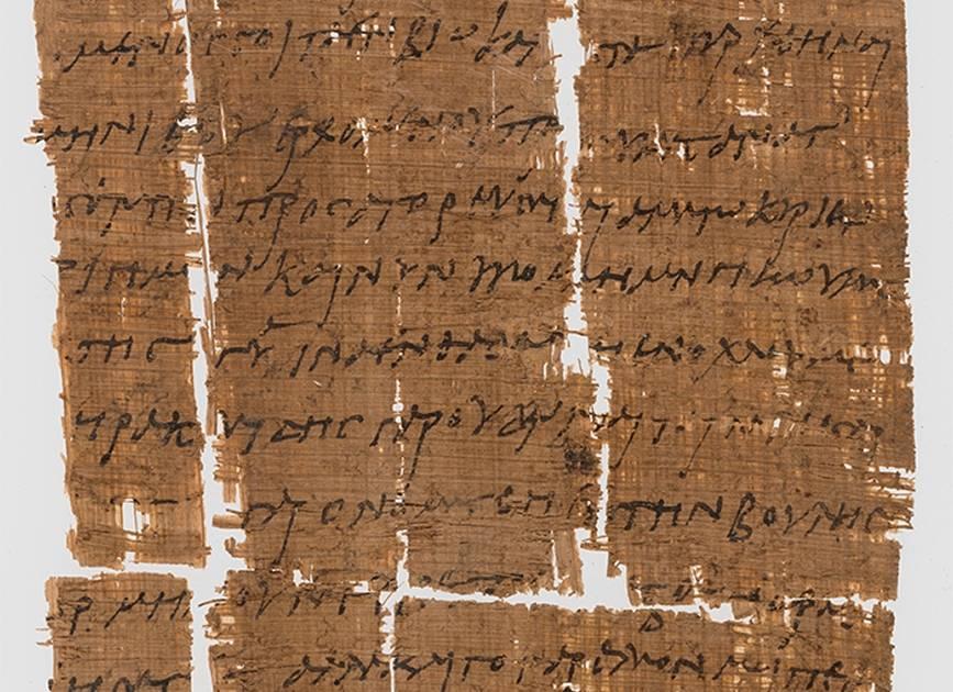 Ältester christlicher Brief auf Papyrus entdeckt