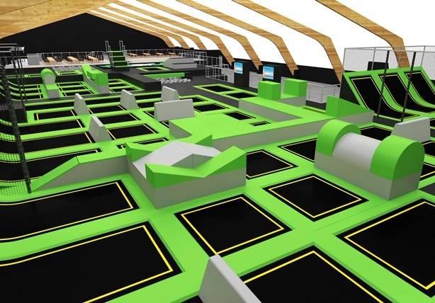 Moers: NRWs modernste Trampolinhalle eröffnet an der Bismarckstraße